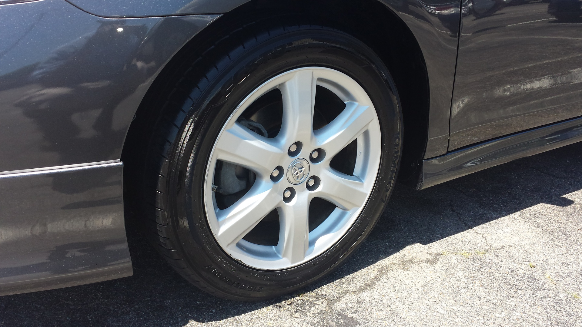 Wheel Area Cleaned